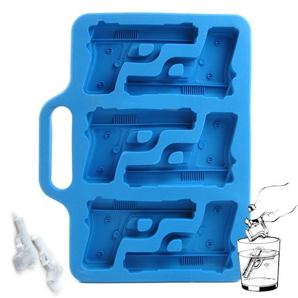 Handgun-Shaped Ice-Cube Tray