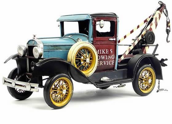 Handmade Antique Model Kit Car - 1931 Ford  Tractor/Trailer