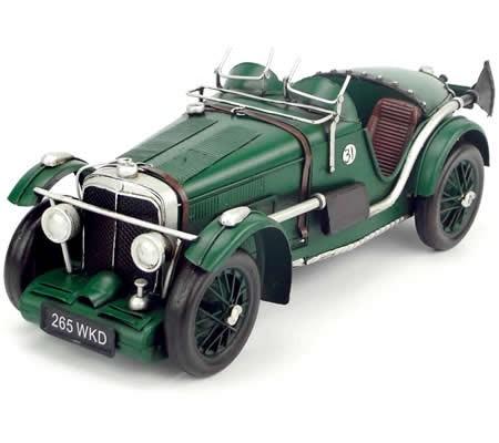 Handmade Antique Model Kit Car 1933 MG K3 Magnette Race Car