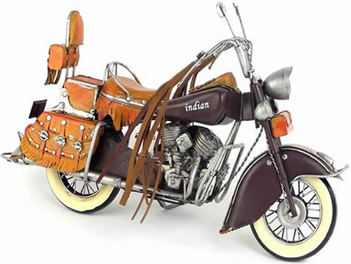 Handmade Antique Model Kit Motorcycle-1943 US Indian Motorcycle