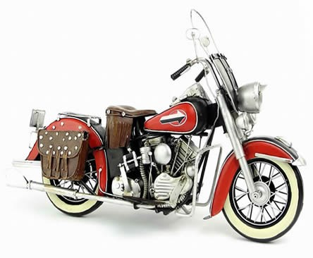 Handmade Antique Model Kit Motorcycle-1952 Harley FL Motorcycle