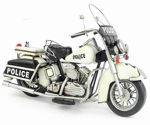 Handmade Antique Model Kit Motorcycle-1978 Harley Police Motorcycle