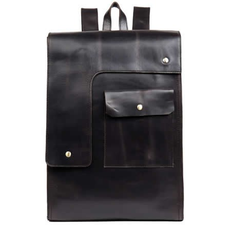 "Handmade Genuine Leather Backpack 15""Laptop School College Men's Bag"