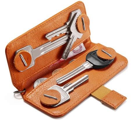 Genuine Leather Minimalist  Key Case Cover Holder
