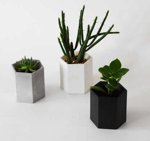 Handmade Hexagon Concrete Succulent Planter Flower Pot Feelgift
