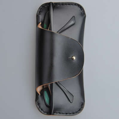 Handmade Leather Eyeglass Case Sunglass Holder