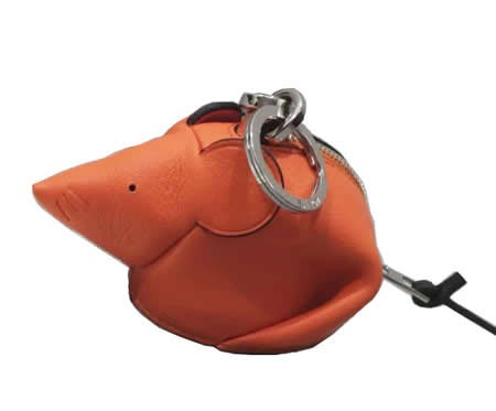 Handmade Leather Mouse Shaped Coin Purse
