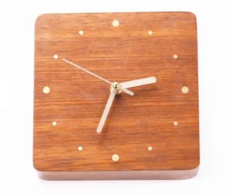 Handmade Modern Desk Clock,Red Rosewood