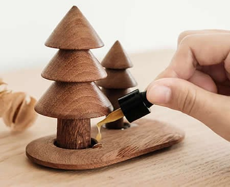 Handmade Wooden Christmas Tree Aroma Essential Oil