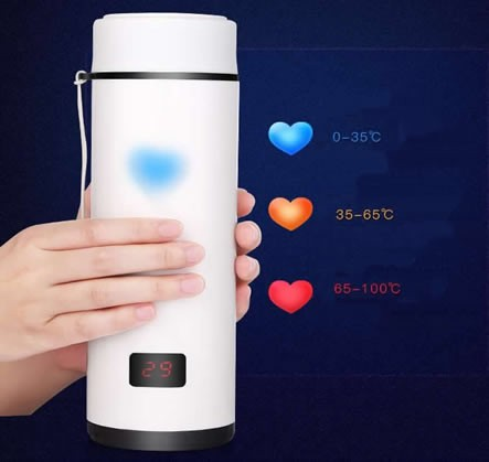 Heart Touch Sensing Temperature Display Cup