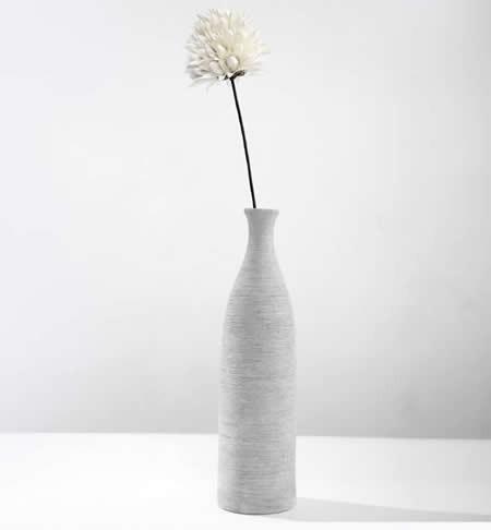 Home Decor Modern Bottle Shaped Concrete Vase Feelgift
