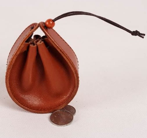 Leather Drawstring Pouch Coin Purse Feelgift