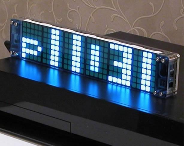 Led Dot Matrix Desk Clock