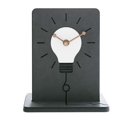 Light bulb Silent Table Clock Non Ticking Desk Clock