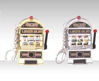Lucky Jackpot Slot Machine Key Chain