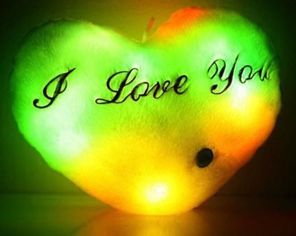 Luminous Love Heart-Shaped  Throw Pillow