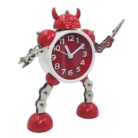 Metal Robot Alarm Clock