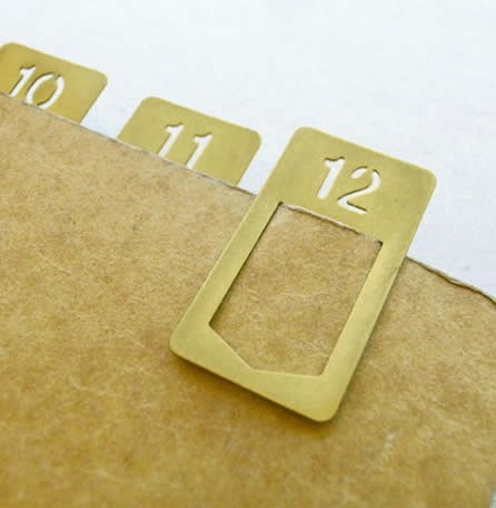Metallic Brass Clip  Page Markers  Bookmarks,(Set of 12 Bookmarks)