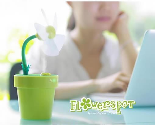 USB Flowerpot Desktop Misting Fan Humidifier