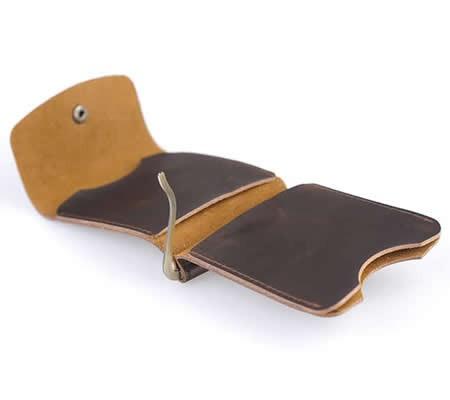 Minimalist  Leather Wallet Money Clip