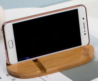 Natural Bamboo Wood SmartPhone Stand Holder