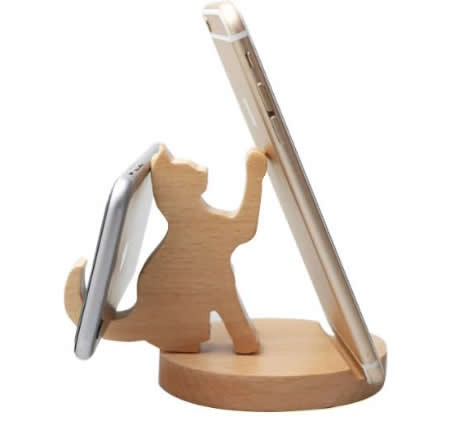 Natural Wooden Cell Phone Stand  Holder