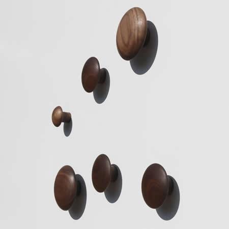Natural Wooden Coat Hooks Wall Mounted Vintage Single Organizer Hangers