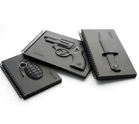 Novel 3D Revolver  Cover Notebook