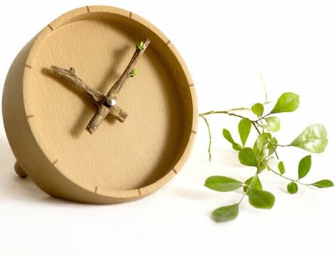 Plant Branch Sprout   Desk Clock
