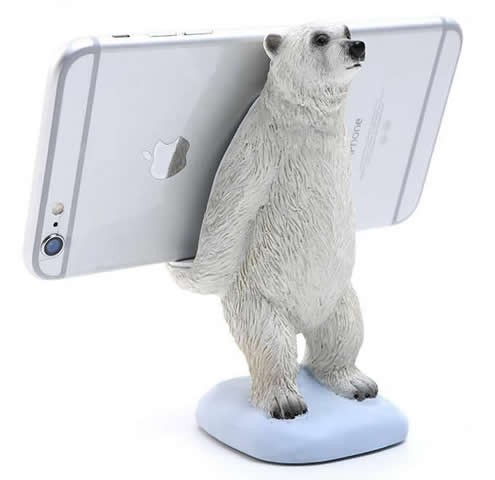 Polar Bear  Cell Phone Holder