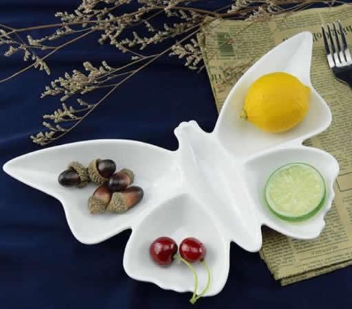 Porcelain Butterfly Dinner Plate