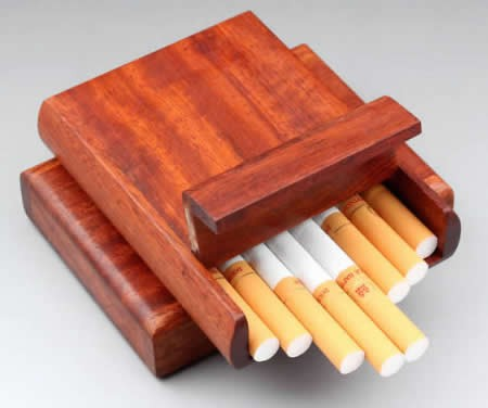 Wooden Cigarette Case,Rosewood