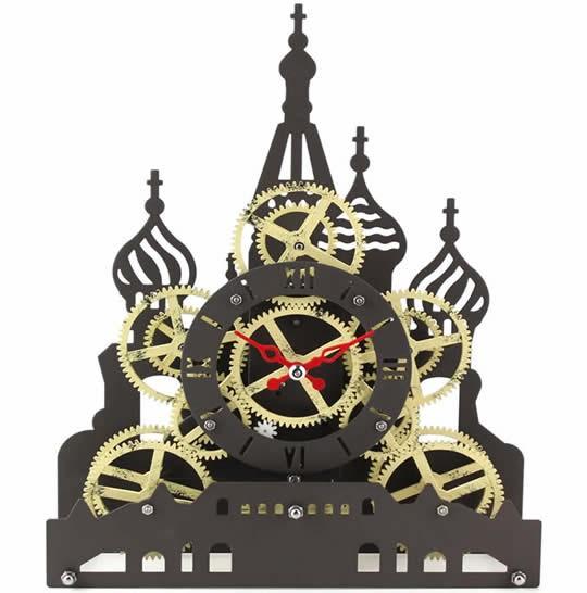 Red Square  Gear Desk Clock