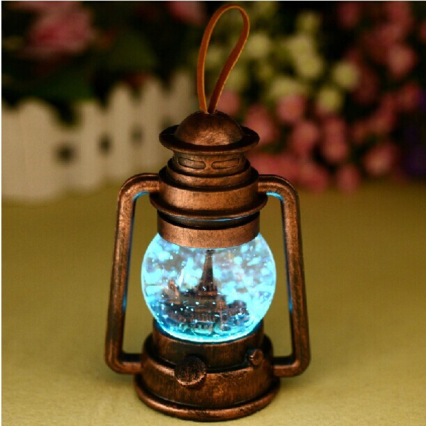 Retro Eiffel Tower Crystal Color Changing Night Light