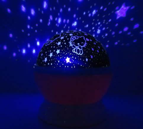 Romantic Rotating Moon Star Projector