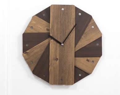 Round  Wooden Wall Clock Decorative Clock