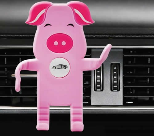 Silicone Pig Cell Phone Smartphones Air Vent Car Mount Holder