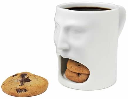 Face Cookie Holder Coffee Mug