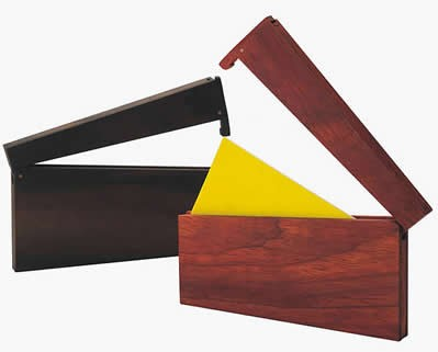 Customize Logo/Name Engrave  Wooden Business Card Case,Sandalwood