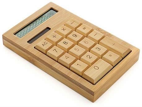Solar Power Bamboo Calculator - FeelGift