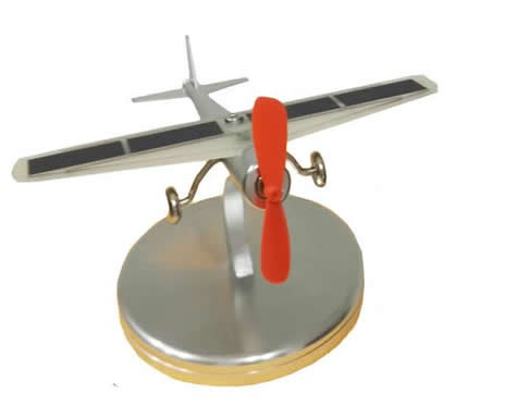 Solar Powered Aircraft Model For Home Office And Car