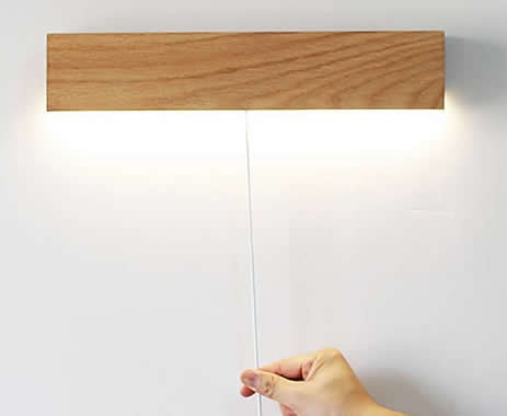 Solid Wood LED Bedside lamp Wall Lamp