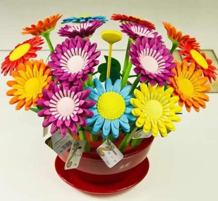 18 Pieces Sunflower Pen in a Flower Pot