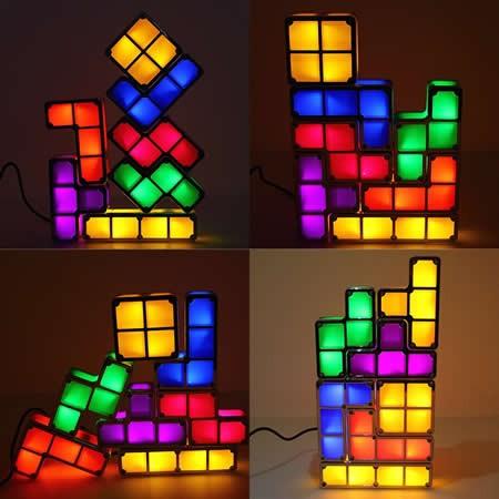 Tetris Stackable Led Desk Lamp Light Feelgift