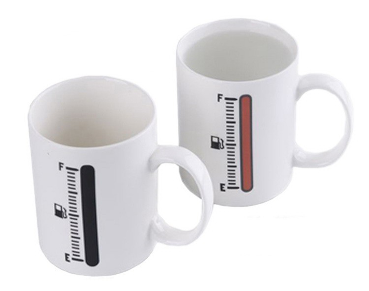Magic Thermometer Color Changing Ceramic Coffee  Mug