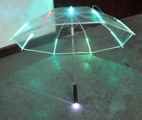 Transparent LED Light up Flashlight Umbrella