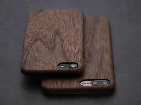 Ultra Thin  Wooden Phone Case for iPhone 8/8Plus/7/7 Plus/6/6 Plus/6S/6S Plus,Black Walnut