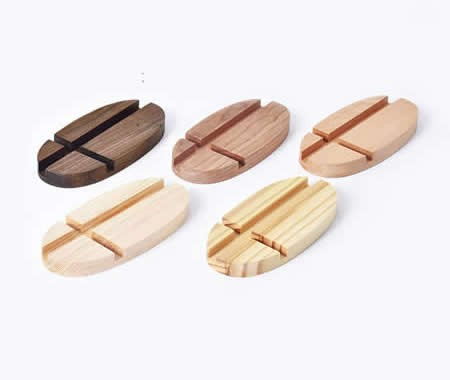 Universal Wooden Portable Desktop Cell Phone iPad Stand Holder