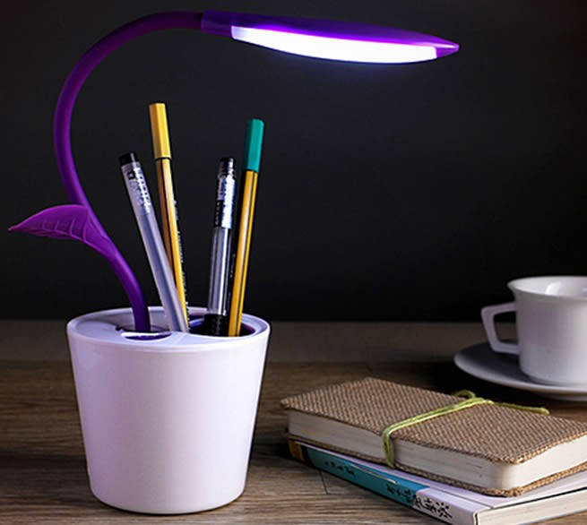 USB  Rechargeable  Flower Pot Night Light