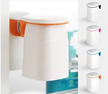 Wall Mounted Toothbrush Cup Holder with Magnetic Rinse Cup